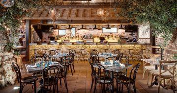 Dining area inside Herringbone Restaurant in La Jolla