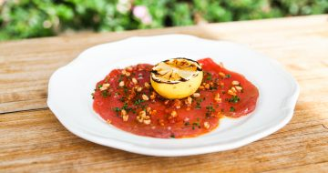 Big eye tuna carpaccio
